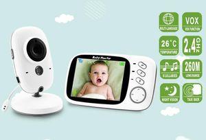 2,4G Wireless Baby Monitor  Mit 3,2 Zoll LCD Audio Sprechen Nachtsicht Überwachung Sicherheit Kamera