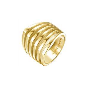Joop Damen Ring Edelstahl Gold LINES JPRG10645B1, Ringgröße:56 (17.8 mm Ø)