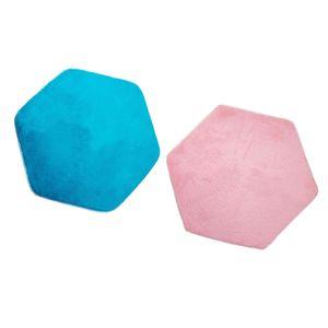2 STÜCKE 140 X 120 Cm Hexagonal Weichem Plüsch Kinder / Baby Spielhaus Zelt Teppich Kinder Schlafzimmer Bodenkissen