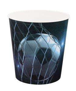 Idena Papierkorb aus PP 9 Liter, Fussball