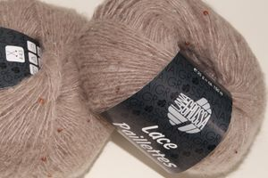Lana Grossa - Lace Paillettes - Fb. 2 taupe 25 g