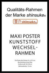 Wechselrahmen Shinsuke® Maxi-Poster Profil: 15mm Kunststoff 61x91,5cm schwarz