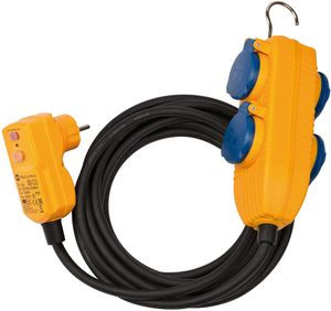 brennenstuhl Schutzadapterkabel IP54 4-fach Powerblock