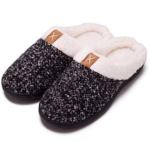 Winter Hausschuhe Herren Damen Memory Foam Plüsch Wärme Home rutschfeste Slippers wollähnliche für Drinnen und Draußen