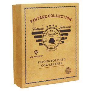 Greenburry Vintage RFID Leder Reißverschluss Geldbörse mit Kette BV-821A-25