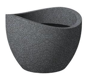 Scheurich 250/50 Pflanzgefäß Schwarz Granit - 50 cm x 50 cm x 37,1 cm; 53381