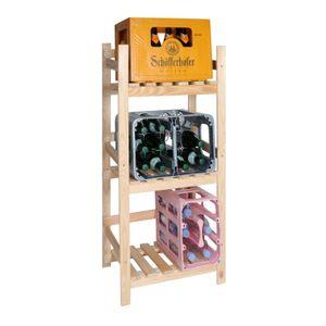 VINCASA: Getränkekistenregal aus Holz / Getränkekisten-Ständer / Flaschenkastenregal