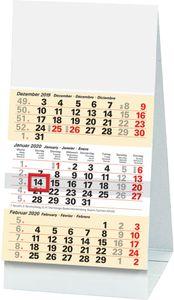 """Glocken Tischkalender """"3-Monats-Tischkalender"""" 97 x 190 mm 2021"""