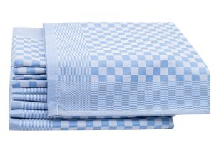 10er Set Geschirrtücher aus Baumwolle, 46x70 cm, blau