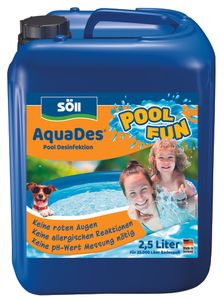 Söll Pool Desinfektion 2,5 Liter AquaDes für 25 Qbm