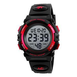 SKMEI Kinderuhr Armbanduhr Mode Multifunktions Wasserdichte Outdoor Sports Leuchtende Uhr fuer Kinder Studenten Jungen 1266 Rot