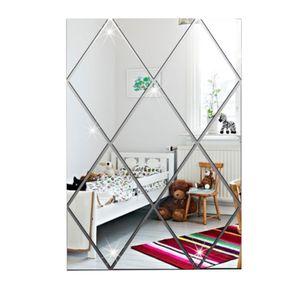 Spiegel Wandaufkleber Acryl Wandaufkleber Sch?ne Diamant Wasserdicht Wandbild 17-teilig