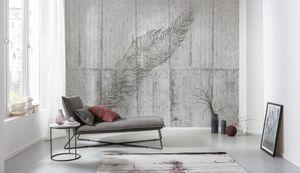 "Komar Vlies Fototapete ""Concrete Feather"" - Größe: 350 x 250 cm (Breite x Höhe), 7 Bahnen"