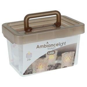 Teelichter Set - 24x LED Teelicht in Aufbewahrungsbox