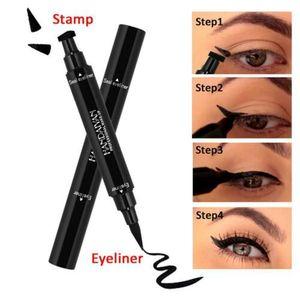 Winged Eyeliner Stempel wasserdicht Make up Womens Liner schw Bleistift Eye L9D4