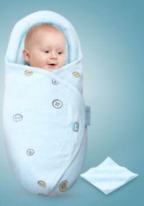 Baby Swaddle Wrap Pucktuch Baumwolle Wickeltuch Pucksack Schlafsack