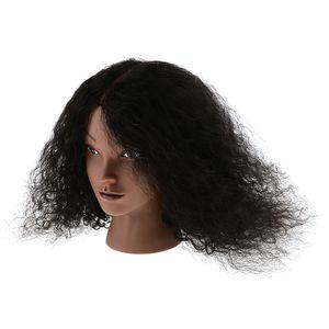 Weibliche Friseur Übungsköpfe Trainingsköpfe Frisierkopf Praxis Training Kopf Modell mit 100% menschliche lange Haare