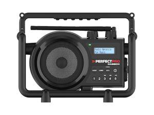 PerfectPro Baustellenradio DABBOX, DAB+, Bluetooth und UKW-Empfang, Radio mit AUX, Stoßfest, IP54, DBX3