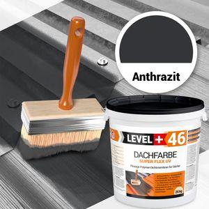 25kg Dachfarbe Dachlack Sockelfarbe elastisches Anthrazit PROFI RM46