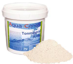 Aqua-Cereal® Tonmineral | 2kg, Calcium-Bentonit mit einem Dreischicht-Tonmineral Montmorillonit Anteil, Mineralien