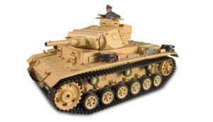 Panzer Kampfwagen III Rauch & Sound, 1:16, GHz