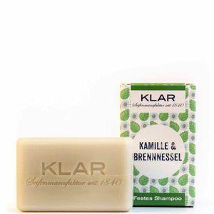 Klar's festes Shampoo Haarseife Kamille/Brennnessel für störrisches Haar 100g 11039