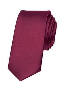 Krawatte Herren Hochzeit Konfirmation Slim Tie Retro Business Schlips schmal Autiga® bordeaux