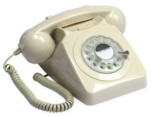 GPO Retro 746, Analoges Telefon, Kabelgebundenes Mobilteil, Anrufer-Identifikation, Elfenbein