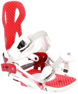 Damen/Herren Snowboard Bindung weiß/rot M (Größe 38-41)