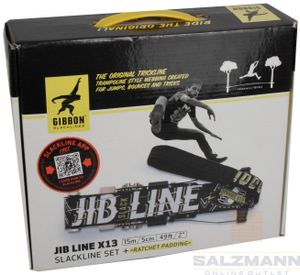 Gibbon Slackline Set JIBLINE X13 Schwarz