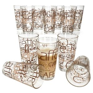 12er Latte Macchiato Gläser-Set 370 ml stapelbar Kaffee-Glas Cappuccino