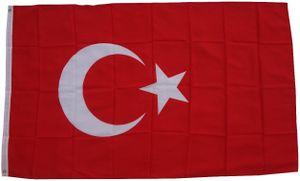 XXL Flagge Türkei 250 x 150 cm  - Fahne- reißfest - rissfest - Hissfahne- Hissflagge  - Sturmflagge -zum hissen - ! - keine billige Chinaqualität!