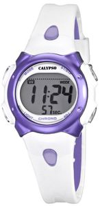 Calypso Kinderuhr K5609/2 weiß lila Digital Teenie-Uhr