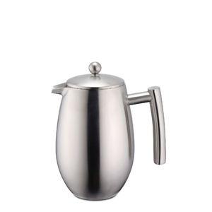 Pressfilterkanne Kaffeebereiter Teebereiter Doppelwandig 350 ml aus Edelstahl