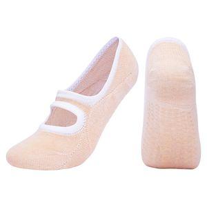 Rutschfeste Yoga-Socken Tanz Ballet Socken für Pilates Fitness Gymnastik Farbe Beige
