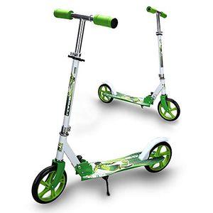 karpal Kinderscooter ab 5 Jahre, Kinderroller 205mm Kick Scooter, klappbar Kinderroller mit 2 Radern Hoehenverstellbar Sichere Premium Kinder Roller (Gruen)¡