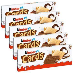 Ferrero Kinder Cards Waffel Spezialitäten mit Kakaocreme 128g 5er Pack
