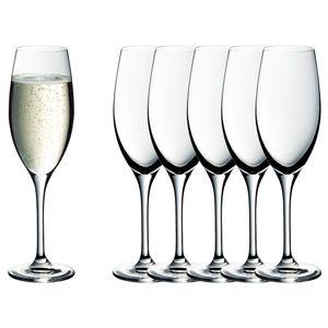 WMF 0910259990 Champagnerkelch-Set easy Plus 5 Stück