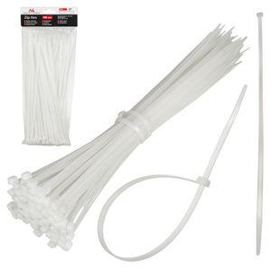 Kabelbinder 100er Set Set UV-Beständig Kabelmanagement Kabelorganizer Kabelbinderset 2.5x100mm, Weiß