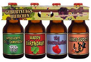 Geburtstags Bier im Happy Birthday 4er Träger Teil 2 (8,33 EUR / l)