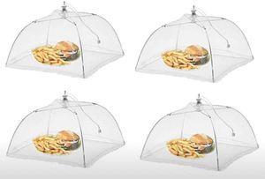 RHP Fliegenhaube XXL 4er Set Abdeckhaube für Essen, Faltbare Kuchenabdeckung Fliegenschirm Lebensmittel Abdeckung, Perfekter Fliegen-Schutz für Essen, Obst, Picknick, BBQ, 45x45x30 cm