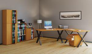 VCM Eckschreibtisch, Schreibtisch, Büromöbel, Computertisch, Winkeltisch, Tisch, Büro, Lona 160x130x50: Buche