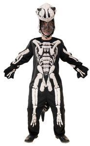 Kinder Unisex Skelett Overall Dino T-Rex Karneval Fasching Gr. 128
