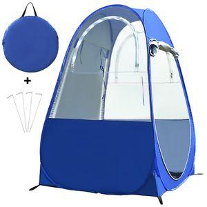 Tragbares Outdoor-Angelzelt UV-Schutzzelt Pop-up Einzelzelt Automatisches Sofortzelt Regenschattenzelt Fenster und Tš¹ren auf beiden Seiten fš¹r Outdoor-Camping Wanderstrand mit Tragetasche