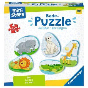 RAVENSBURGER ministeps Bade-Puzzles: Zoo Badewannenspielzeug Spielzeug Puzzle