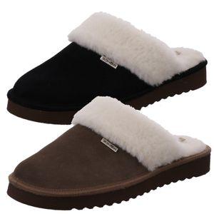 Rohde Damen Pantoffeln Hausschuhe Leder Maiori 6770, Größe:40 EU, Farbe:Schwarz