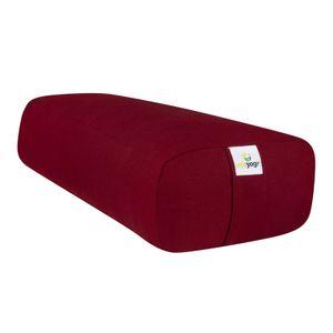 Ecoyogi rectangular Yoga-Bolster – bordeaux