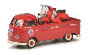 Schuco 452650400 - Modellfahrzeug VW T1 Servizio Vespa, 1:87