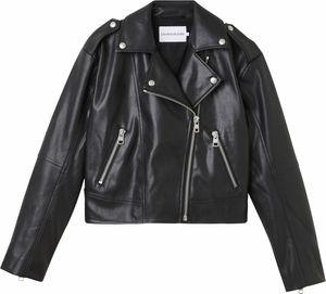 Calvin Klein FAUX LEATHER BIKER JACKET Biker Jacke Damen ck black schwarz L