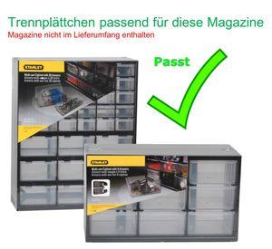 STANLEY Trennplättchen für Kleinteilemagazin passend für 1-93-978 / 981 Trennstege Lagersichtkasten  1-97-525
